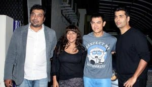 Aamir Khan at the special screening of Bombay Talkies with Karan Johar, Anurag Kashyap and Zoya Akhtar