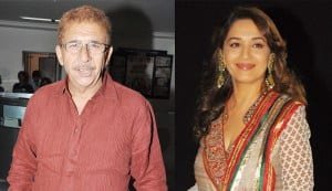 Why is Naseeruddin Shah excited to work with Madhuri Dixit in 'Dedh Ishqiya'?