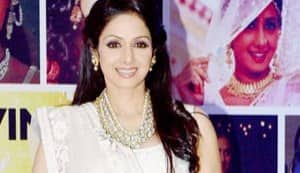 Sridevi beats the heat in a white Manish Malhotra creation