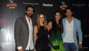 Arjun Rampal, Hrithik Roshan, Arjun Kapoor attend F1 party at Lap