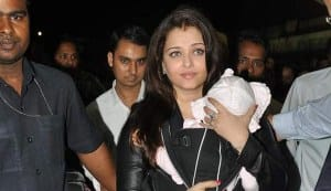 Who takes care of baby Aaradhya while Aishwarya Rai Bachchan is busy shooting?