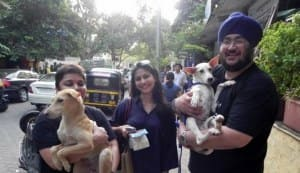 Sohail Khan, Tanisha take home pets from adoption camp