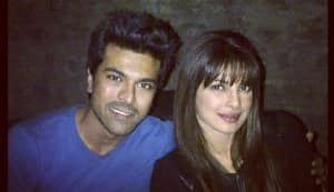 Priyanka Chopra bonds with Ram Charan Teja!