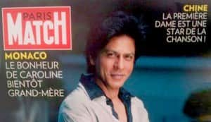 Why is Shahrukh Khan on French magazine Paris Match?