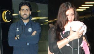 Abhishek Bachchan comes to wife Aishwarya and baby Aaradhya's rescue