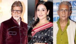 Amitabh Bachchan, Naseeruddin Shah and Vidya Balan in Sujoy Ghosh's Badla