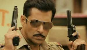 Is Salman Khan a non-violent police officer in Dabangg 2?