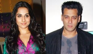 Why is Vidya Balan not interested in working with Salman Khan?