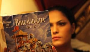 Veena Malik turns spiritual, reads the Bhagavad Gita!